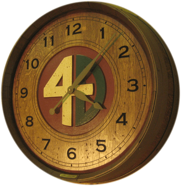 Ranch Brand Wine Clock by eWoodArt