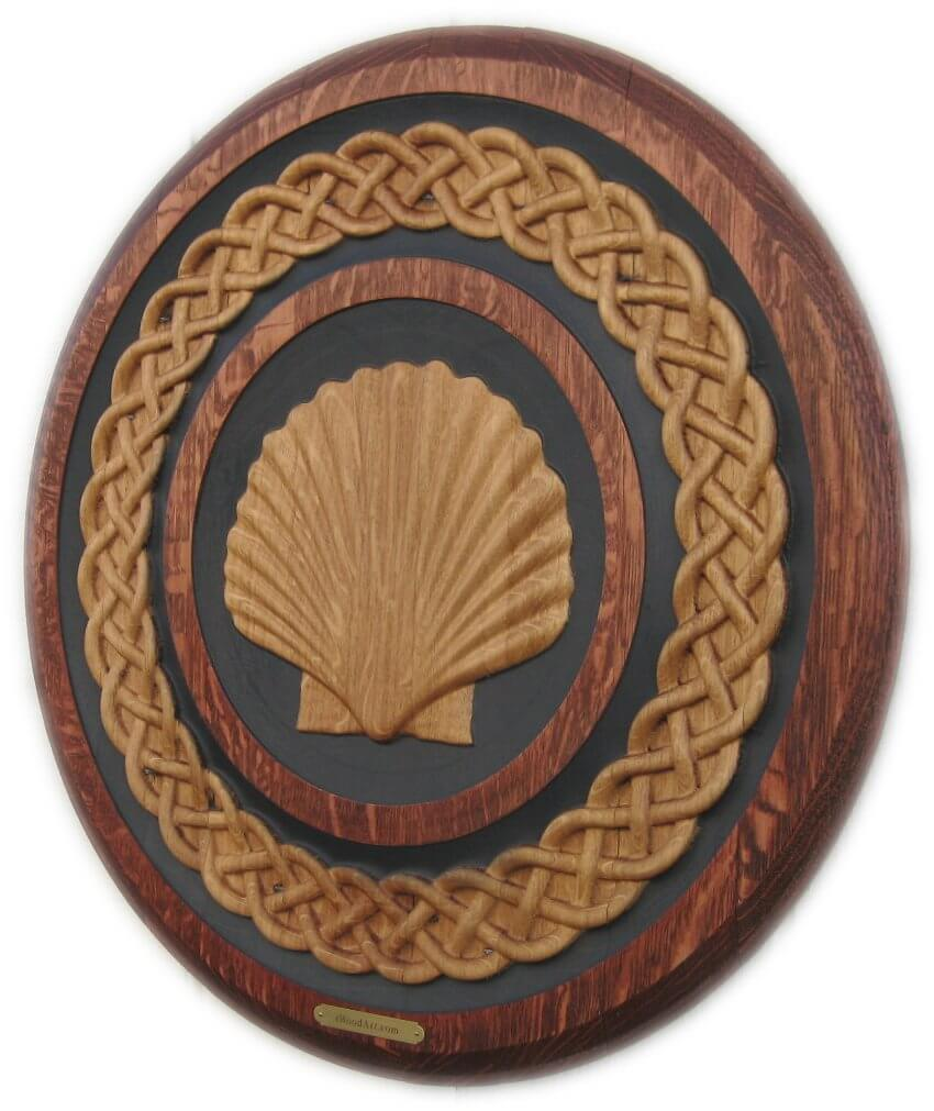 Scallop Celtic Weave Flat Head Barrel Carving by eWoodArt