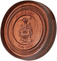 Barrel Carving - Coat of Arms with Border