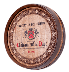 Barrel Carving - Wine Label with Border
