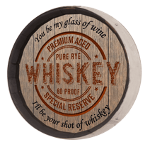 Whiskey Barrel Sign - Whiskey Label