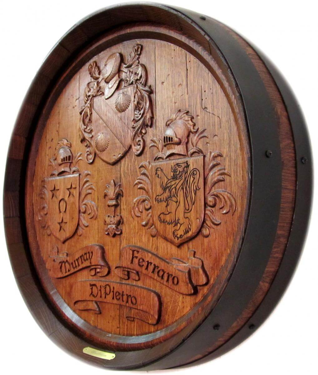 Ferraro Coats Of Arms barrel carving