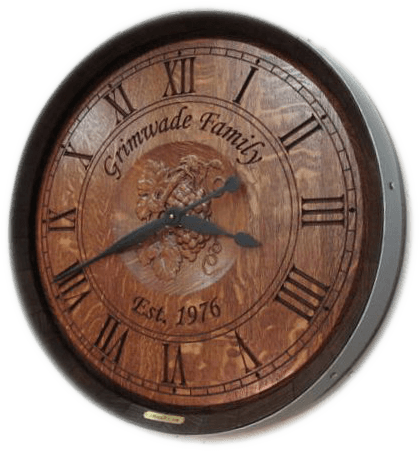 Wine Barrel Clock - Home Cellar & Bar