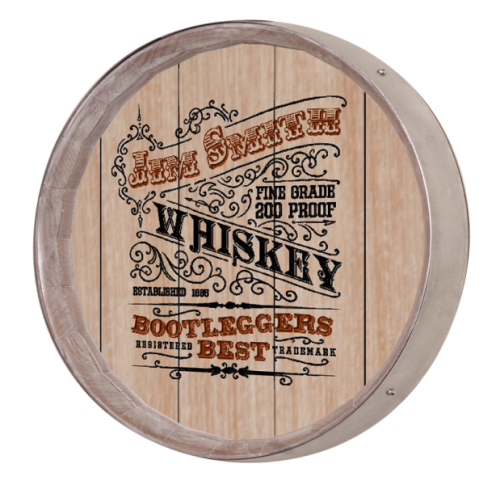 Whiskey Barrel Sign - Bootleggers