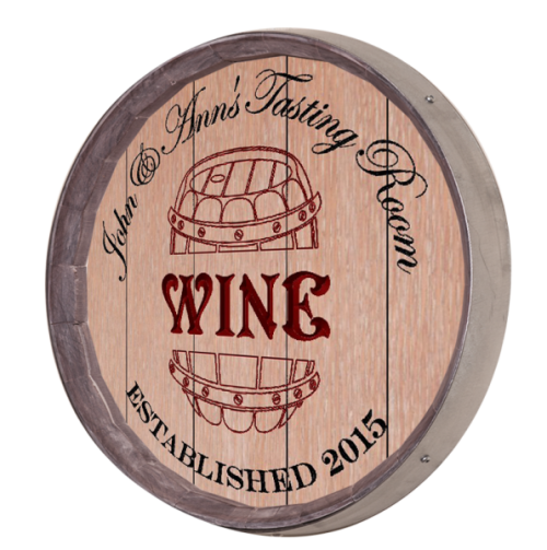 Wine Barrel Sign - Tasting Room