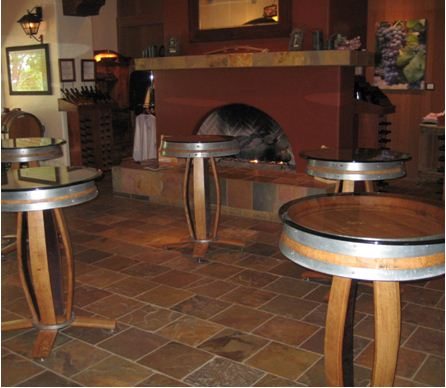 Bridlewood Winery Tasting tables