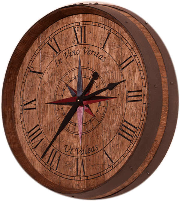 eWoodArt Wine Barrel Clock