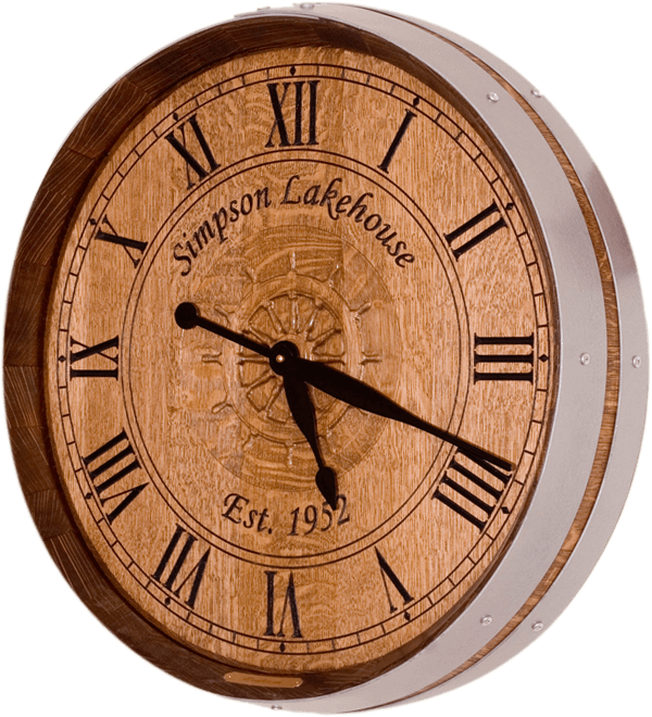 Lake House Barrel Clock