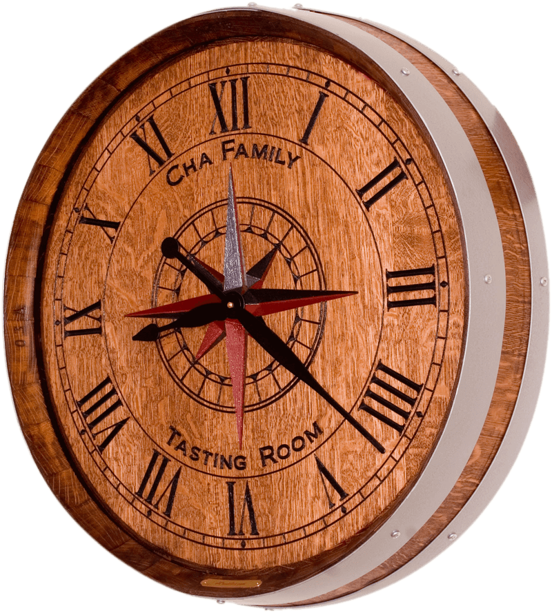 Compass Rose Barrel Clock