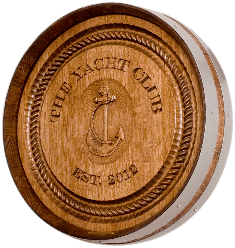 Yacht Club Barrel Carving