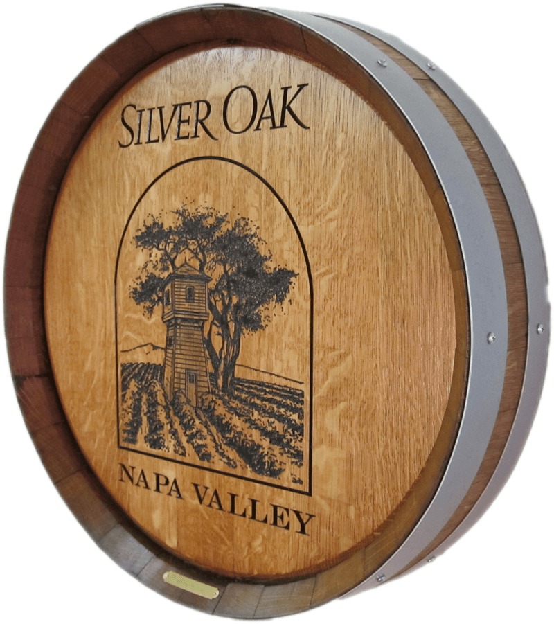 Silver Oak Logo'd Barrel Carving