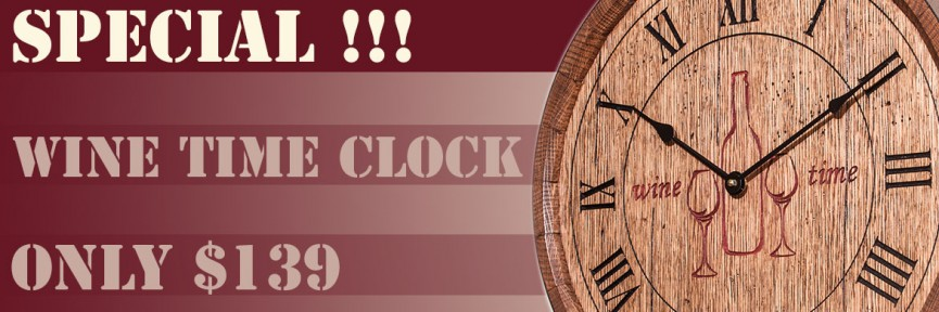 Wine Time Clock Special