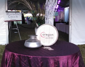 Oregon Wine Experience Barrel Auction Entrance