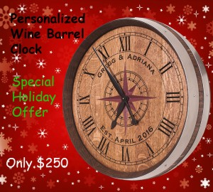compass rose tenth barrel clock holiday special