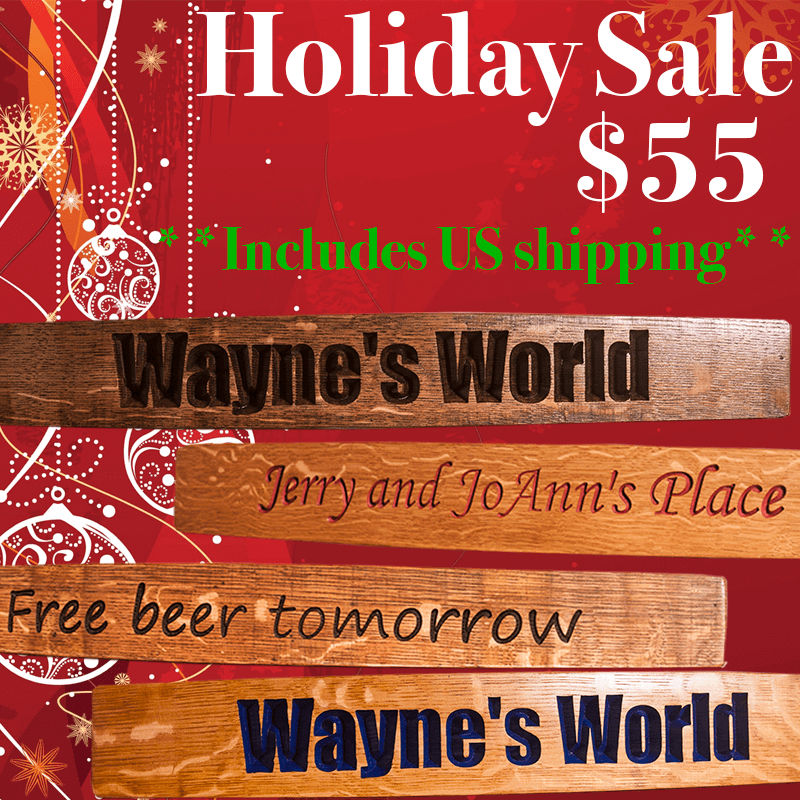 Holiday Special stave sign