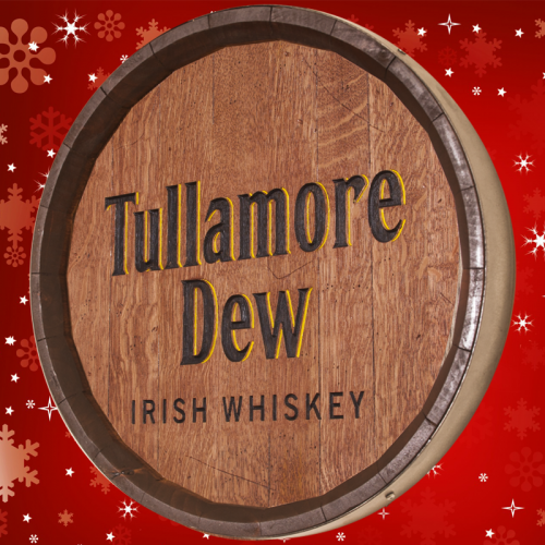 tullamore dew barrel sign holiday special