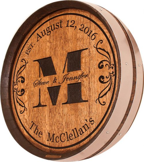 Personalized Wine Barrel Wedding gift
