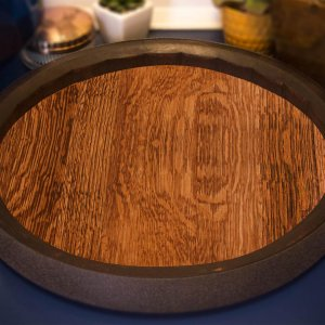 Sixteenth Barrel Tray Lazy Susan