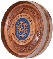 C1-Battifarano-Family-Crest-Barrel-Carving
