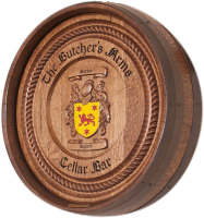 C2-Butchers-Arms-Family-Crest-Barrel-Carving