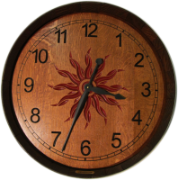 B1-Red-Sunburst-Arabic-Wine-Clock
