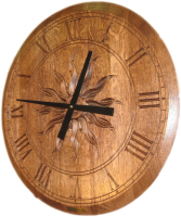 B4-Clock-Sunburst-Roman-StainedOnly