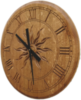 B5-FlatHead-Sunburst-Wine-Clock