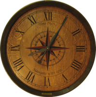 E2-Time-Flies-Compass-Rose-Wine-Clock