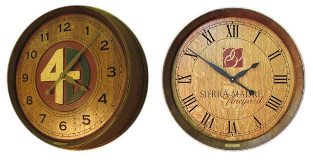ranch brand and winery logo wine clocks