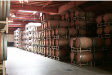Bridlewood winery barrels