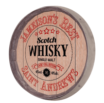 Whiskey Barrel Sign - Scotch