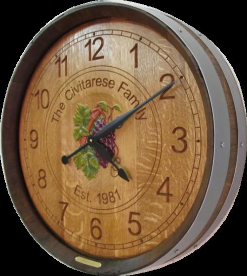 Wine Barrel Clock - Wedding & Anniversary