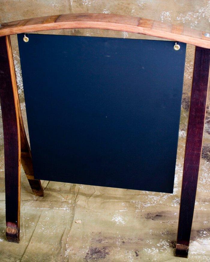 Barrel Chalkboard Easel - 3'