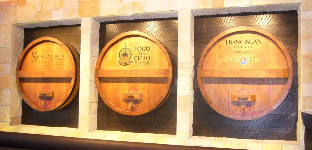 Fogo De Chao Chicago wine casks