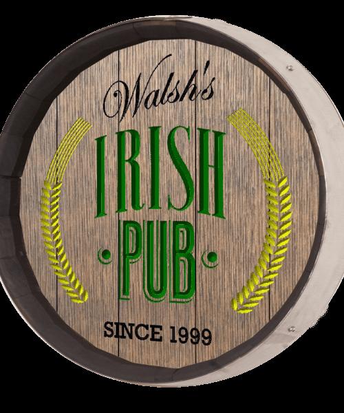 Bar Barrel Sign - Irish Pub