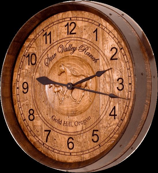 Wine Barrel Clock - Western & Ranch
