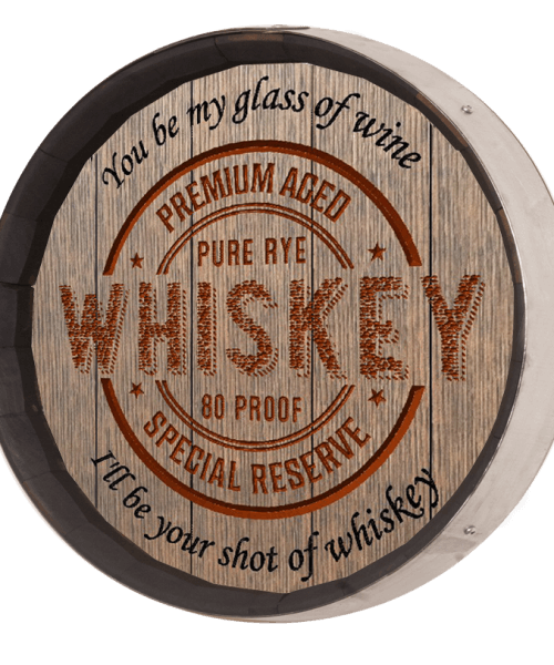 Whiskey Barrel Sign - Whiskey Label