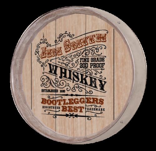 Whiskey Barrel Sign - Bootleggers