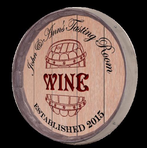 Wine Barrel Sign - Tasting Room