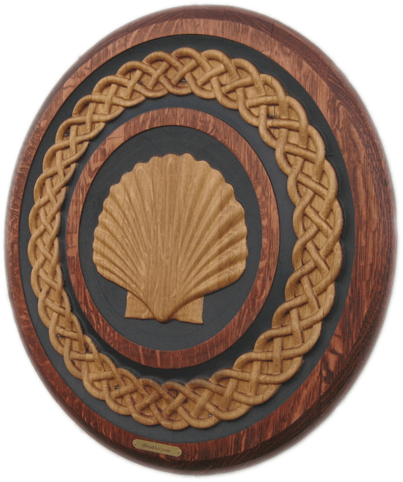 Scallop Shell Celtic Weave Barrel Carving