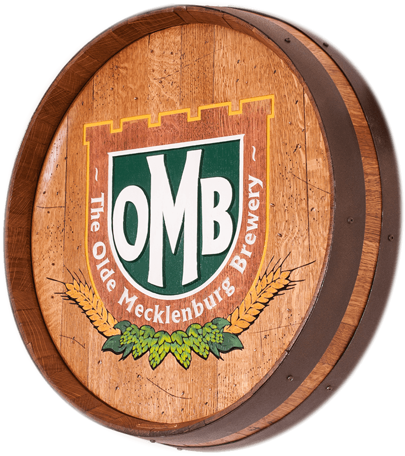 OMB Brewery Logo'd Barrel Carving