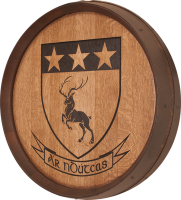 A0-Ár-nDúthchas-Coat-of-Arms-Barrel-Carving
