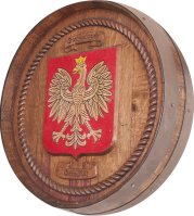 A0-Owczarczak-Coat-of-Arms-Barrel-Carving