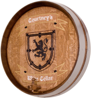 B5-Courtneys-Wine-Cellar-Coat-of-Arms-Barrel-Head-Carving