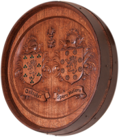 C4-Gallagher-Coat-Of-Arms-Barrel-Carving