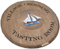 A3-Village-Crossing-Sail-Boat-Barrel-Head-Carving
