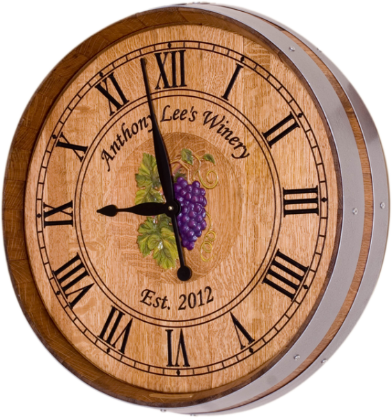 Gallery Of Wine Amp Winery Barrel Clocks
