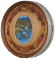 D2-Geese-Oak-Leaves-Barrel-Head-Carving